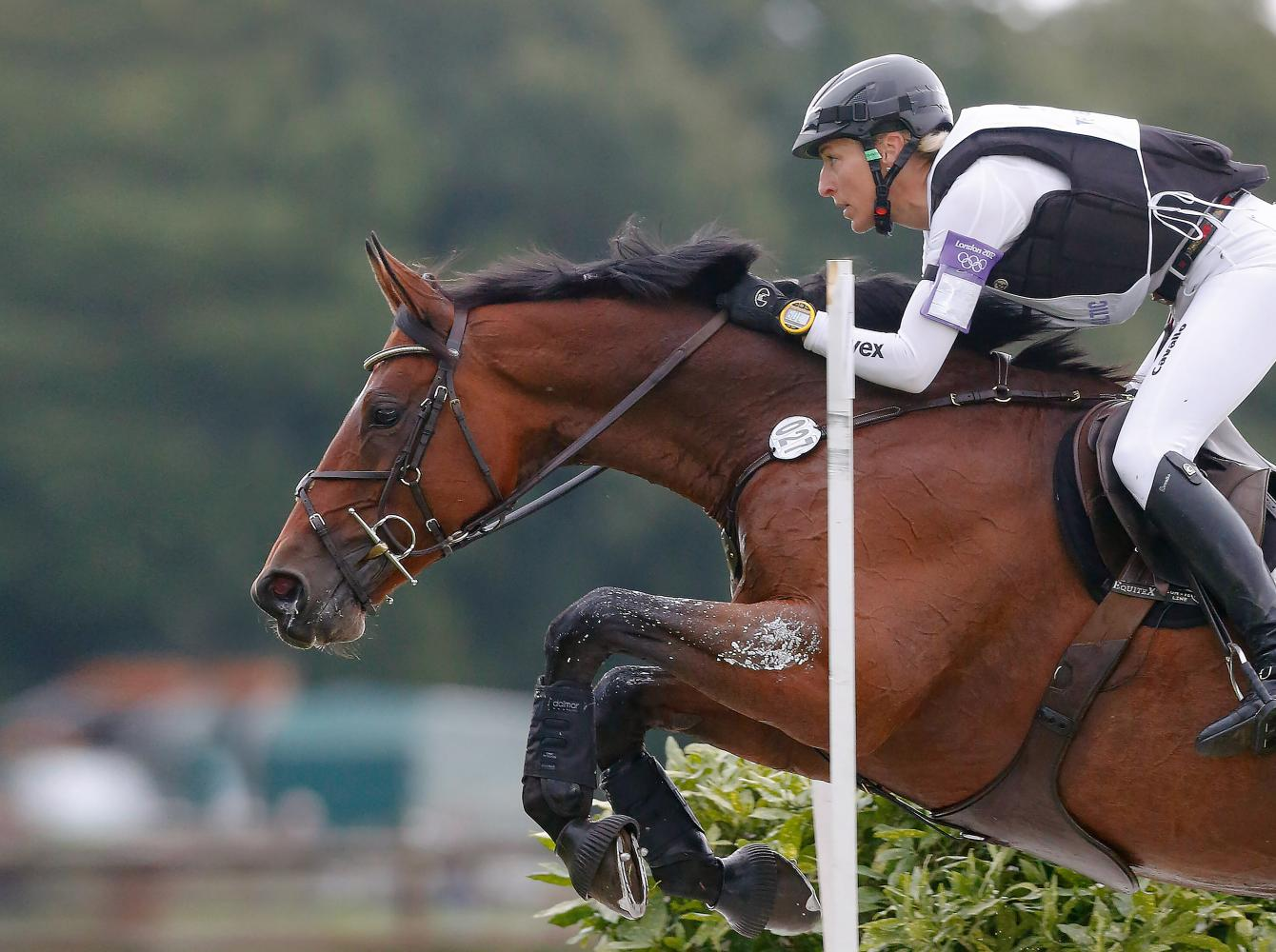 Ingrid Klimke in the Jumping discipline of an Eventing contest